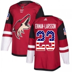 Adidas Coyotes #23 Oliver Ekman-Larsson Maroon Home Authentic USA Flag Stitched Youth NHL Jersey - Администрация Мазановского района
