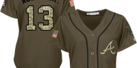 Braves #13 Ronald Acuna Jr. Green Salute to Service Women's Stitched Baseball Jersey - Администрация Мазановского района