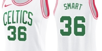 Nike Celtics #36 Marcus Smart White/Pink Women's NBA Swingman Fashion Jersey - Администрация Мазановского района