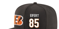 NFL Cincinnati Bengals #85 Tyler Eifert Snapback Adjustable Stitched Player Hat - Black/White - Администрация Мазановского района