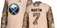 Men's Adidas Buffalo Sabres #7 Rick Martin Authentic Camo Veterans Day Practice NHL Jersey - Администрация Мазановского района